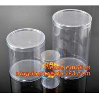 Wholesale round plastic tube,clear plastic round pet tubes,soft food grade PET round tube box from china suppliers