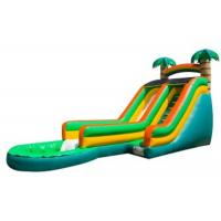 Wholesale Green Palm Tree Inflatable Water Slides / Inflatable Backyard Water Slide from china suppliers