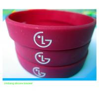 hot selling LG silicone wristband for promotion for sale