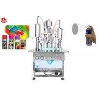 Oil Based Spray Paint Filling Machine , Semi Automatic Aerosol Can Filling Equipment for sale