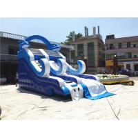 Wholesale Blue Small Inflatable Dolphin Slide With PVC Material / Blow Up Climbing Wall from china suppliers