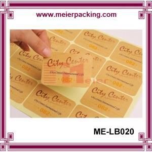 Wholesale Craft Paper Sticker/Kraft Paper Label Sticker/Custom Rectangular Paper Letter Sticker  ME-LB020 from china suppliers