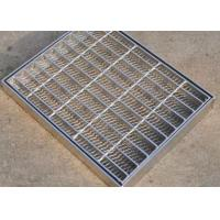 China Walkway Trench Drain Covers Stainless Steel 6mm Twist Steel Cross Bar on sale