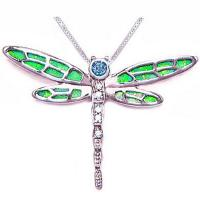 Wholesale Brass Base Colored Fashion Jewelry Pendants Enamel Grangonfly Pendant from china suppliers