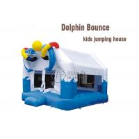 China amusement park equipment fun dolphin bounce kids inflatable jumping castle on sale