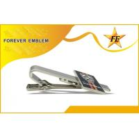 Metal Silver Color Tie Clip / Personalized Tie Bar Shiny Plating For Men