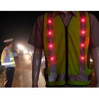 Buy cheap LED Reflective Bike Safety Vests from wholesalers