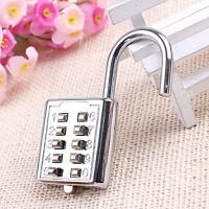 Wholesale Mini push button Code zinc alloy Combination lock 10 pin Sports Locker from china suppliers