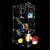 Wholesale hot sale New style clear square household 3 steps acrylic hamster cage for sale with available price from china suppliers