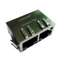Wholesale SI-40131 SI-60082-F Ethernet Rj45 MagJack 10/100BaseT , 1X2, G/G, Tab Down from china suppliers