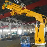 China High Performance Folding Telescopic Boom Marine Deck Crane for Sale on sale