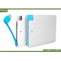 Wholesale Built In Cable Super Slim Power Bank 2500mah Capacity For Iphone 5V / 1A from china suppliers