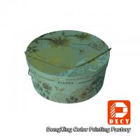 Wholesale Hot Foil Stamping Sturdy Round Decorative Cardboard Boxes With Lids String Style from china suppliers
