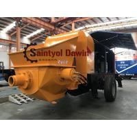 Wholesale Powerful 30 m3/hr ~80 m3/hr trailer hydraulic concrete pump with diesel or electric power from china suppliers