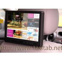 Wholesale 10 Inch Taxi Headrest Advertising Capacitive Multi Touch Screen With 3G , GPS , Motion Sensor from china suppliers