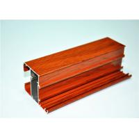 Wholesale Anodized / Mill Finished Wood Grain Aluminium Extruded Profiles , 6063 T5 from china suppliers