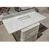 China White Marble Stone Countertops , Bianco Carrera Marble Countertop Wear Resistance on sale