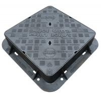 EN124 D400 Cast Iron Manhole Cover Double Sealed Triangular Ductile Iron Manhole Cover And Frame