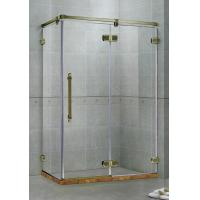 Red Frameless Hinged Shower Door / One Fixed Panel Square Shower Enclosure for sale