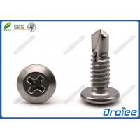 China Philips Wafer Head Self Drilling Screw, Stainless Steel 304 / 316 / 18-8 / 410 on sale