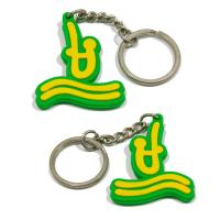 Classic style pvc key holder 3d pvc key chains 2d pvc keyring for sale