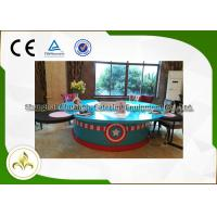 China Painted Wood Table Circle Japanese Dining Grill , Outdoor / Indoor Teppanyaki Grill on sale