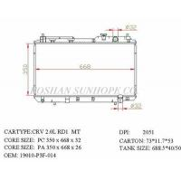 Wholesale CRV 2.0L RD1 MT 19010-P3F-014 Auto Heating Cooling System In Vehicle Core Size 350*668*26 from china suppliers