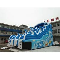 Wholesale Blue Wave Kids Inflatable Water Slide For Pool CE , EN14960 , SCT , EN71 from china suppliers