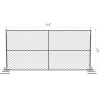 Buy cheap Temporary Chain Wire Fence 57mm x 57mm chain mesh 6foot x 12 foot with steel pipe block foot from Wholesalers