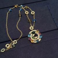 Buy cheap Luxury Custom 18K Gold Jewelry , Bulgari Astrale Necklace With Gemstones from wholesalers