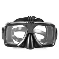 Wholesale Easybreath Optical Lens Black Color Adult Diving Mask For Snorkeling , PC Frame from china suppliers