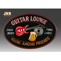 Wholesale Personalized Antique Wall Art Sign Pub Sign Wall Decor Oval Shape Guitar Lounge from china suppliers