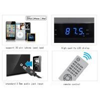 wireless docking station speaker for iphone ipad ipod with av out fm radio alarm clock of ec90067330. Black Bedroom Furniture Sets. Home Design Ideas