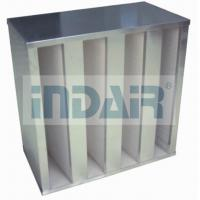 Wholesale Plastic V Cell Terminal HEPA Filter , Low Pressure Drop V Bank HEPA Filter from china suppliers