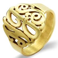 Wholesale Custom Alphabet Fashion Jewelry Rings Silver Simple Ring  With No Stone from china suppliers