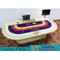 Wholesale Macao VIP Dedicated Casino Poker Table With Standard Simulation Pu Leather Handrails from china suppliers