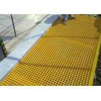 Wholesale FRP Plastic Floor Grating Acid / Alkali Resistant 25 X 38 X 38mm Dimension from china suppliers