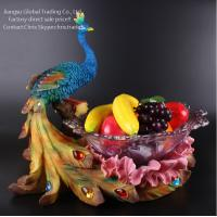 Wholesale large crystal glass resin fruit tray from china suppliers