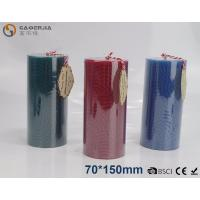 Wholesale Solid - colored Decorative Embossed Pillar Candles With Flat Top from china suppliers