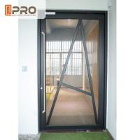 Wholesale Tempered Glass Pivot Front Door , Aluminium Contemporary Entrance Doors from china suppliers