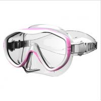 Wholesale Adults Pink Free Dive Goggles / Sea Dive Mask With Corrective Lenses from china suppliers