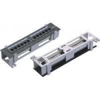 """Wholesale 8 12 Port 10"""" wall mount patch panel , CAT.5E CAT.6 small mini patch panel  YH4006 from china suppliers"""