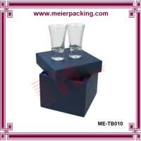 Wholesale delicate paper lip open glass cup packaging gift box ME-TB010 from china suppliers