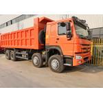China 8x4 Heavy Duty Dump Truck Of HOWO7 Sinotruk , 12 Wheels 25M3 50 Ton Dump Truck for sale