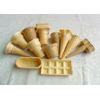 Eco - Friendly Ice Cream Wafer Cups For Store / Supermarket , Custom Shape