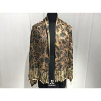 Buy cheap Ladies Knit Tassels Scarf With Tiger Printing Pattern Acrylic Cashmere Material from wholesalers