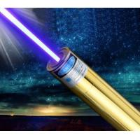 China 2017 New styles Golden 445nm blue laser pointer 3000mw burn match cigars cutting paper With DHL free Shipping on sale