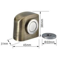 Wholesale Construction Hardware Zinc floor strong magnetic door stopper unfading and durable from china suppliers