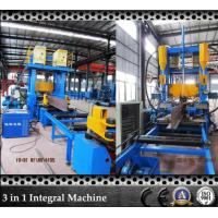 Wholesale H and T Bar Grow Up SAW Submerged Arc Welding Machine with Flange Plate Straightening Machine which Save Space from china suppliers