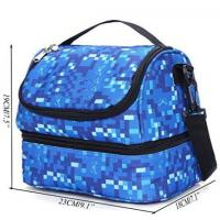China Hand Portable Insulated Food Delivery Bags For Frozen Food Blue Color on sale